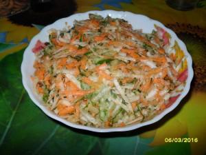 Вкусный салат из редьки