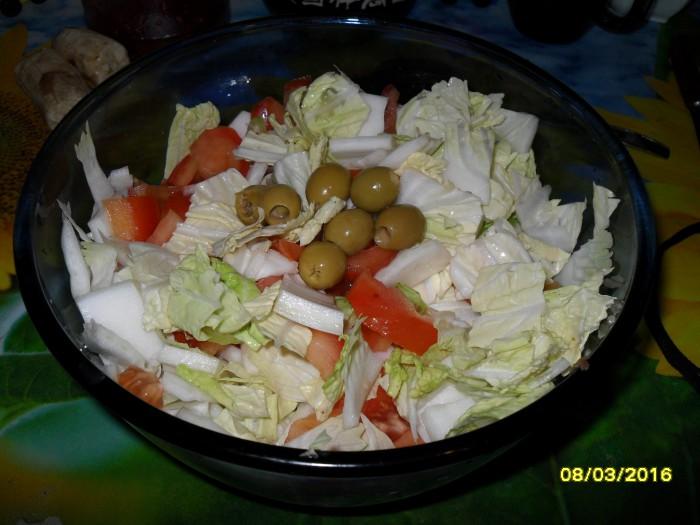 Постный салат без масла