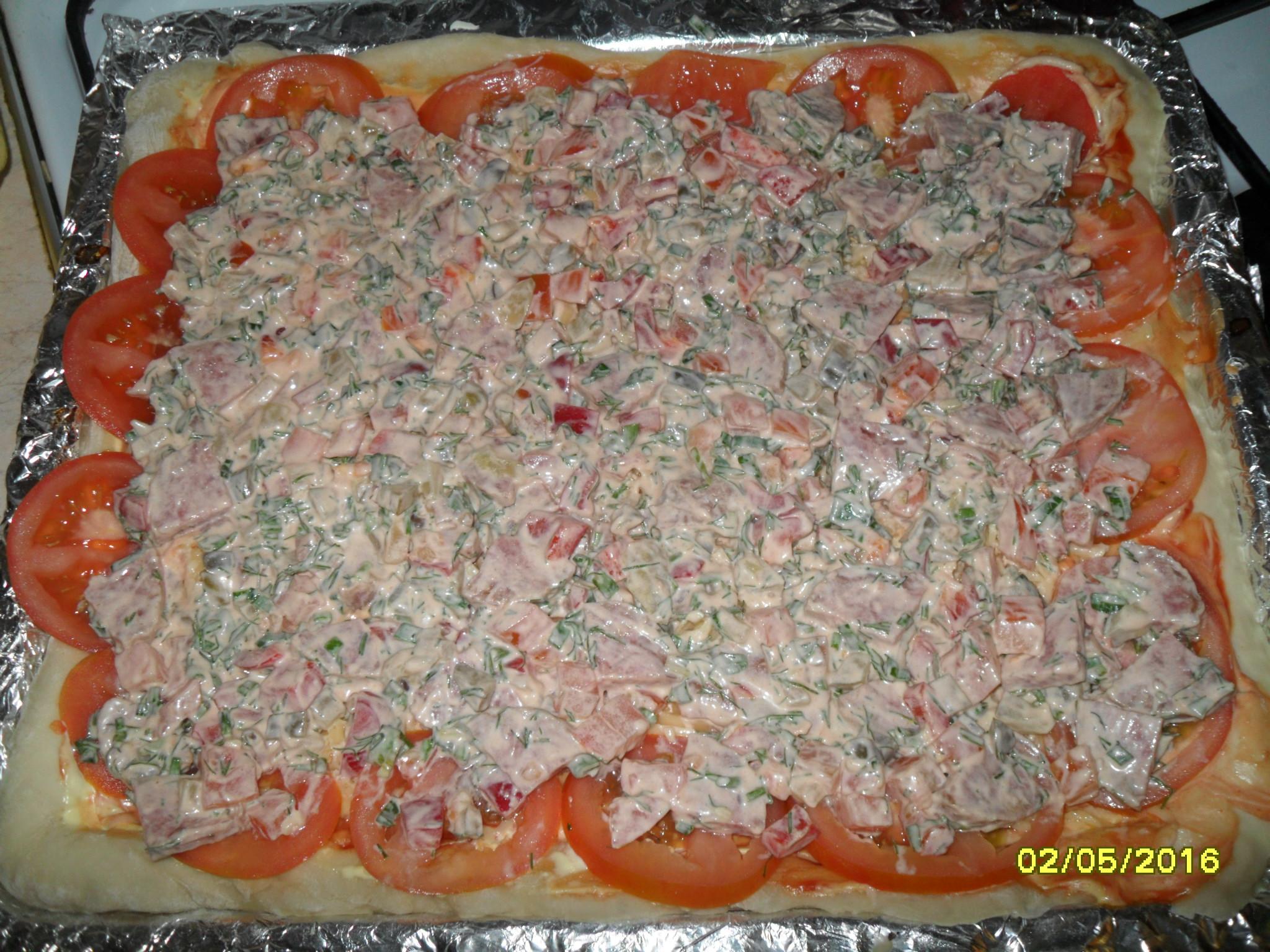 Простая домашняя пицца