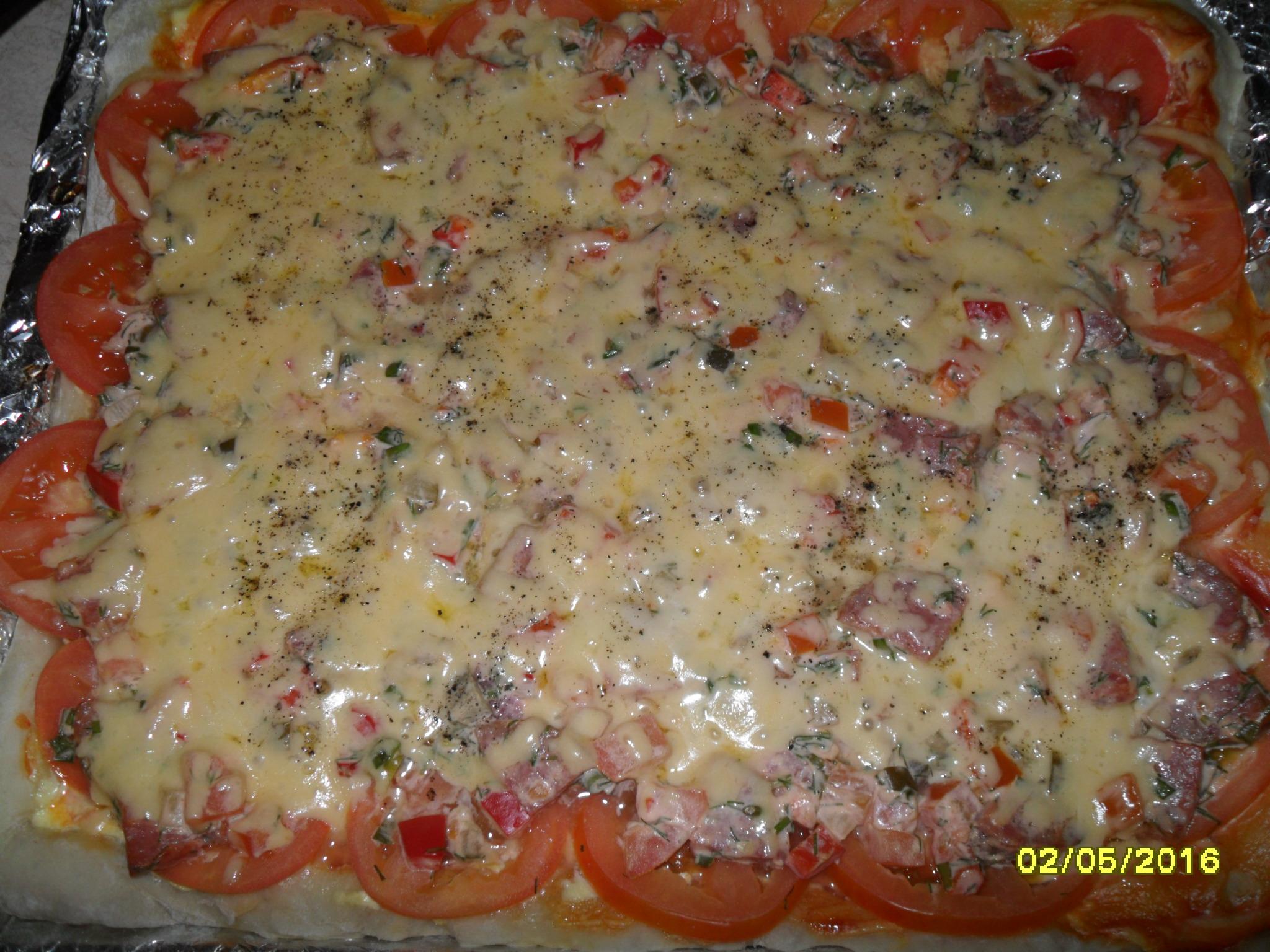 Легкая домашняя пицца